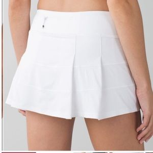 Lululemon White Size 4 Pace Rival II Skort
